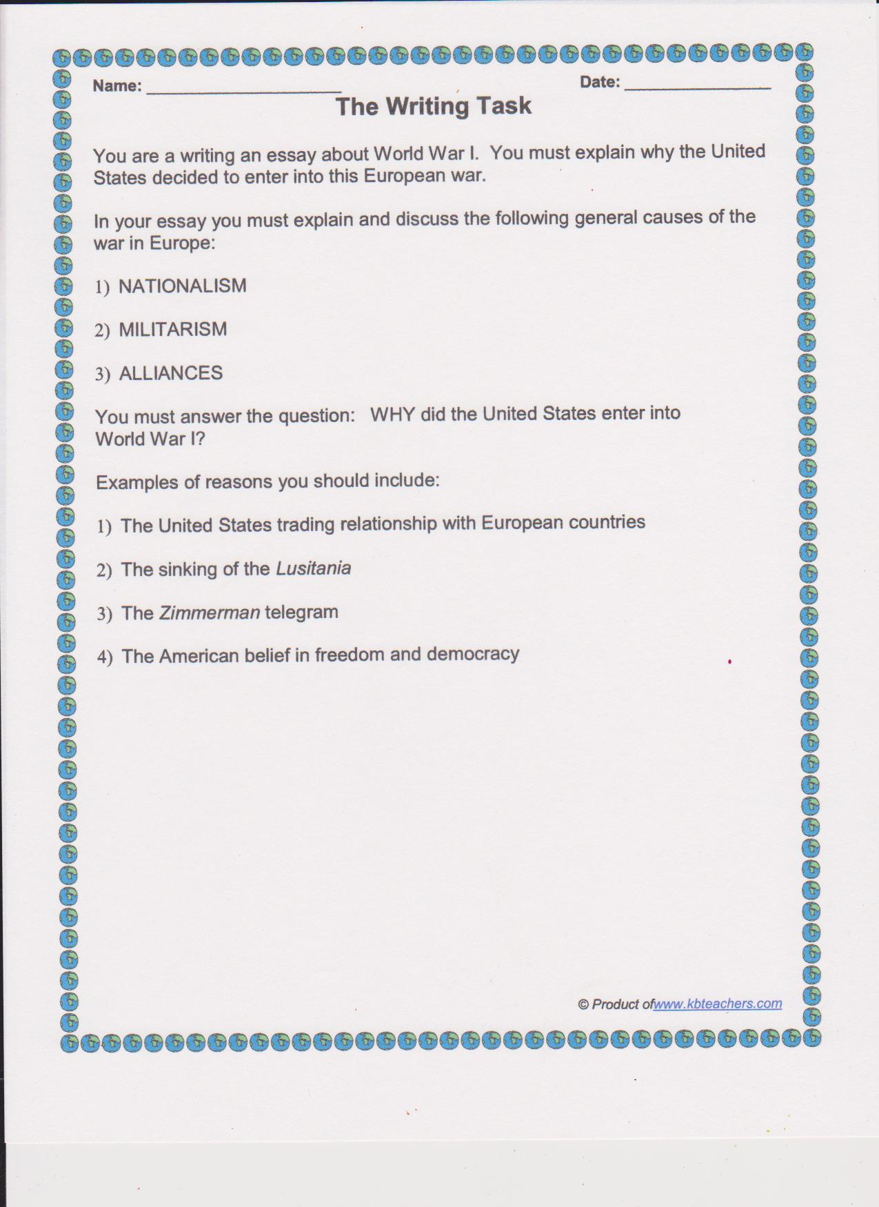 Wwi 6th Grade Worksheets Also Worksheets Grade 4 Grammar Also What Is ...